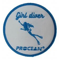 Girl diver badge