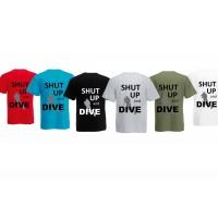 T-shirt Shut up and dive men