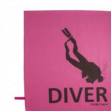 Microfibre beachtowel DIVER pink