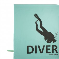 Microfibre beachtowel DIVER seagreen