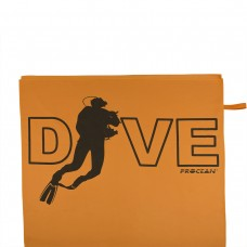 Microfibre beachtowel DIVE orange
