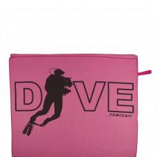 Microfibre beachtowel DIVE pink