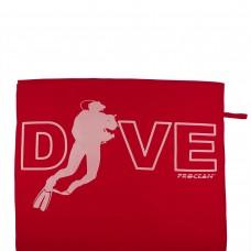 Microfibre beachtowel DIVE red