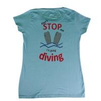 T-shirt Don't stop me lady