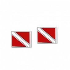 Diveflag earring