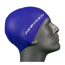 Silicon swimcap blue