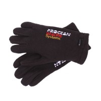 Heated fleece gloves